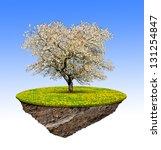 little island and tree | Shutterstock . vector #131254847