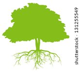 tree with roots green ecology... | Shutterstock .eps vector #131255549