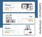 business and finance banner...   Shutterstock .eps vector #1312556051