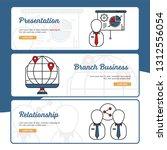 business and finance banner...   Shutterstock .eps vector #1312556054