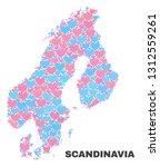 mosaic scandinavia map of... | Shutterstock .eps vector #1312559261