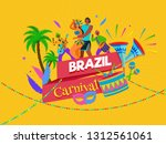 brazil carnival celebration... | Shutterstock .eps vector #1312561061
