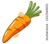 carrot clipart graphic | Shutterstock .eps vector #1312564031