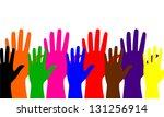 colored hands | Shutterstock . vector #131256914