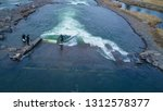 aerial drone photo of surfers...   Shutterstock . vector #1312578377