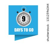 9 days to go sign   label... | Shutterstock .eps vector #1312596344