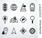 map and location icons   Shutterstock .eps vector #131259977