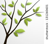 abstract tree with green leaves.... | Shutterstock .eps vector #131260601