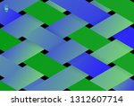 colorful abstract 3d stripe... | Shutterstock .eps vector #1312607714