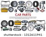 car repair service  auto spare...   Shutterstock .eps vector #1312611941