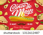 cinco de mayo mexican holiday... | Shutterstock .eps vector #1312612487