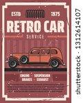 retro car repair service  spare ...   Shutterstock .eps vector #1312614107
