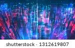 vector abstract 3d crystal. a... | Shutterstock .eps vector #1312619807