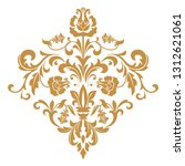 damask graphic ornament. floral ... | Shutterstock . vector #1312621061