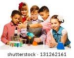 group of five diversity kids... | Shutterstock . vector #131262161