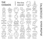 cosmos thin line icon set ... | Shutterstock .eps vector #1312628741