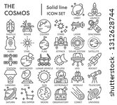 cosmos line icon set  space... | Shutterstock .eps vector #1312628744