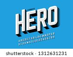 comics hero style font design ... | Shutterstock .eps vector #1312631231