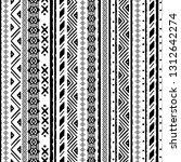 tribal art  ethnic seamless... | Shutterstock .eps vector #1312642274