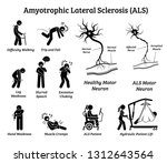 amyotrophic lateral sclerosis... | Shutterstock .eps vector #1312643564