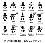 baby illness and sickness sign... | Shutterstock . vector #1312644494