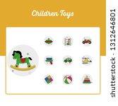 children toys icons set   toy...   Shutterstock .eps vector #1312646801