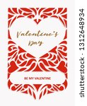 valentine s day greeting cards. ...   Shutterstock .eps vector #1312648934