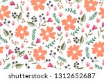 spring theme seamless pattern...   Shutterstock .eps vector #1312652687