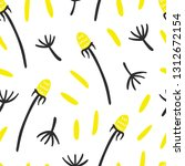 dandelion flower and seeds...   Shutterstock .eps vector #1312672154