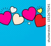 pop heart background design... | Shutterstock .eps vector #1312675241