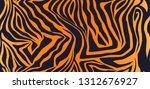 tiger fur seamless vector... | Shutterstock .eps vector #1312676927