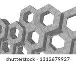 concrete hexagons. abstract... | Shutterstock . vector #1312679927