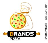 pizzeria  fast food logo or... | Shutterstock .eps vector #1312693184