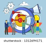 targeted advertisement concept  ... | Shutterstock .eps vector #1312694171