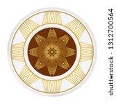 mandala pattern. traditional... | Shutterstock .eps vector #1312700564