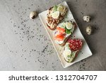 plate with fresh tasty... | Shutterstock . vector #1312704707