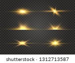 white glowing light explodes on ... | Shutterstock .eps vector #1312713587