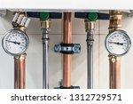 pressure gauge for measuring... | Shutterstock . vector #1312729571