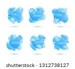 set of gradient abstract... | Shutterstock .eps vector #1312738127