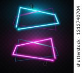abstract neon banner | Shutterstock .eps vector #1312740704