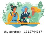 vector cartoon illustration of... | Shutterstock .eps vector #1312744367
