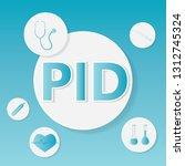 pid  pelvic inflammatory... | Shutterstock .eps vector #1312745324