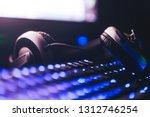 audio headphones on the... | Shutterstock . vector #1312746254