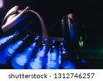 audio headphones on the... | Shutterstock . vector #1312746257