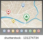 mapping pins icon | Shutterstock .eps vector #131274734