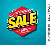 summer sale banner layout...   Shutterstock .eps vector #1312759277