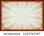 vintage blank circus poster... | Shutterstock .eps vector #1312761497