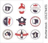 vector collection of wine... | Shutterstock .eps vector #131276651