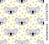 seamless pattern with cute...   Shutterstock .eps vector #1312767254