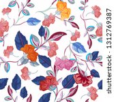 fashion floral vector pattern... | Shutterstock .eps vector #1312769387